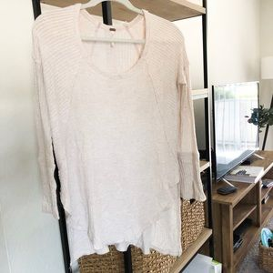 Free People thermal in oatmeal, size xs
